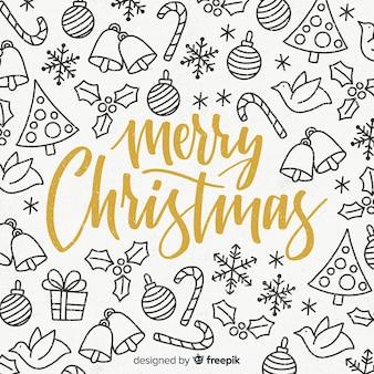 Doodle świątecznych dekoracji