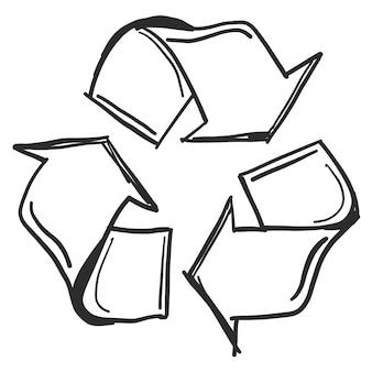 Doodle symbol recyklingu