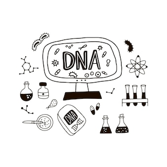 Doodle symbole genomu.