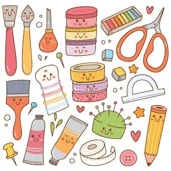 Doodle sztuki i rzemiosła, zestaw narzędzi dla majsterkowiczów