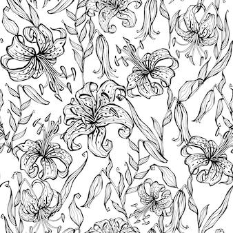 Doodle szwu z lilii ..