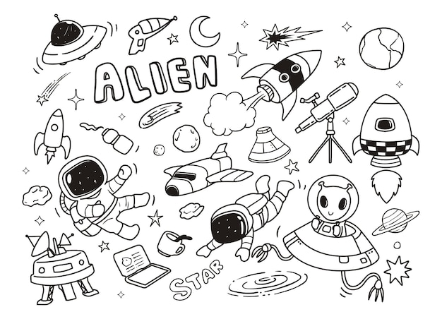 Doodle szybko kosmici