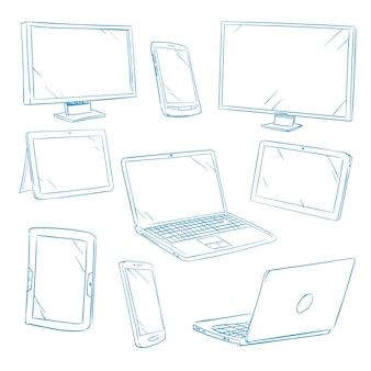 Doodle urządzeń cyfrowych