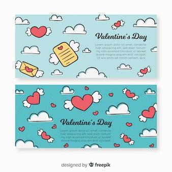 Doodle valentine banner