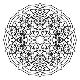 Doodle wzór mandali monochromatycznej koronki