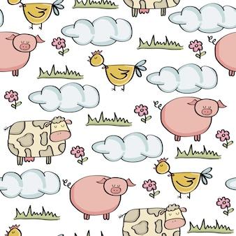 Doodle wzór z hodowli zwierząt