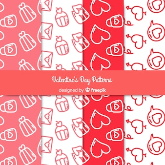Doodle wzory valentine