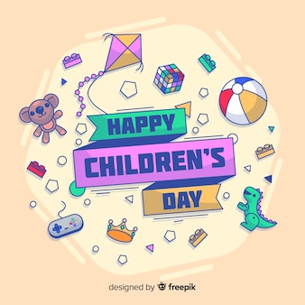 Doodle zabawki children dnia tło