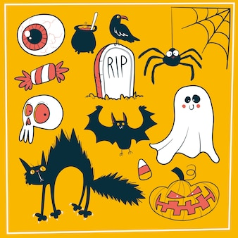 Doodle zestaw dekoracji halloween