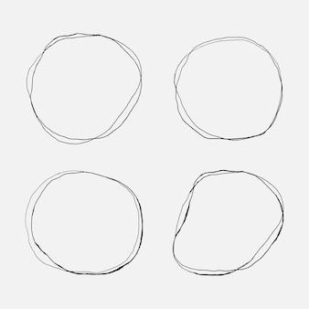 Doodle zestaw kółek