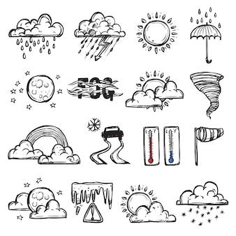 Doodle zestaw pogody