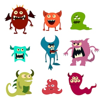 Doodle zestaw potworów