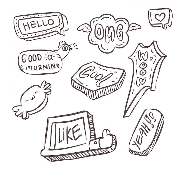 Doodle zestaw wiadomości