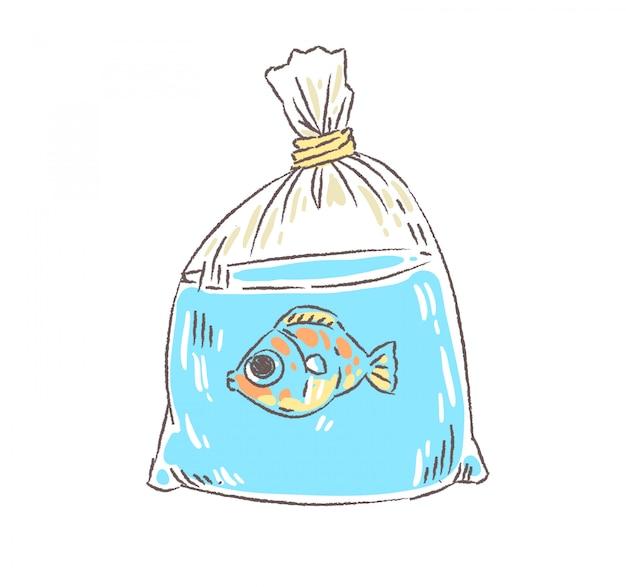 Doodle złota rybka