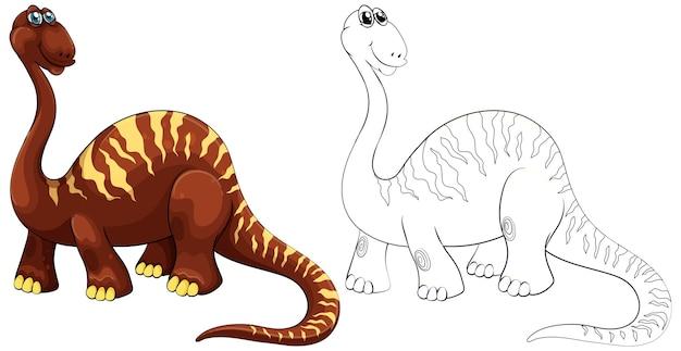 Doodle zwierzę dla brachiozaura