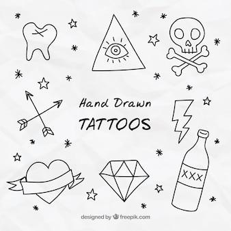 Doodles ozdobne tatuaże