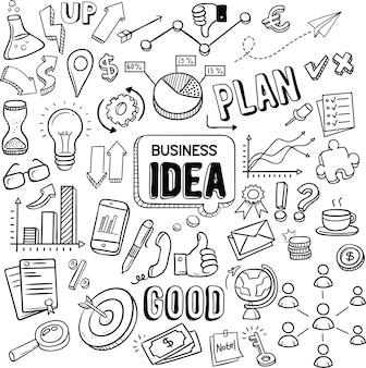 Doodles pomysłów biznesowych