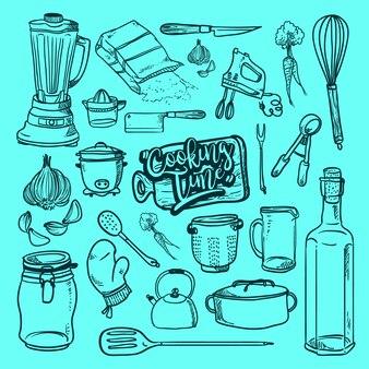 Doodles zestaw kuchnia