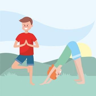 Dopasowanie para uprawiania jogi