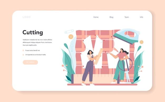 Dopasuj baner internetowy lub stronę docelową do szycia projektanta mody