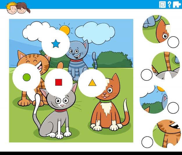 Dopasuj elementy układanki z postaciami z kreskówek