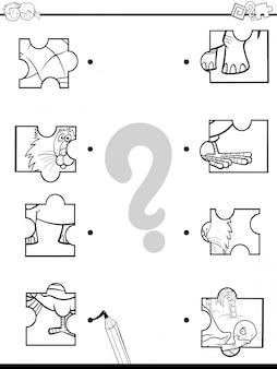 Dopasuj kolorowanki gry puzzle