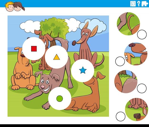 Dopasuj puzzle z zabawnymi psami