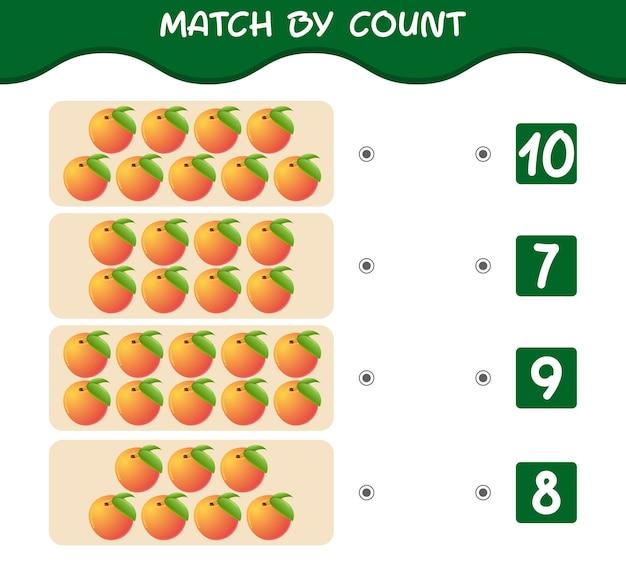 Dopasuj według liczby brzoskwiń z kreskówek gra edukacyjna