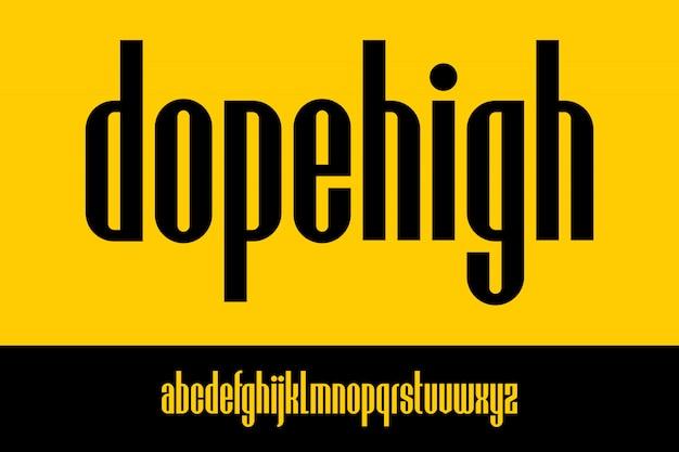 Dopehigh, urban skrócone czcionki alfabetyczne