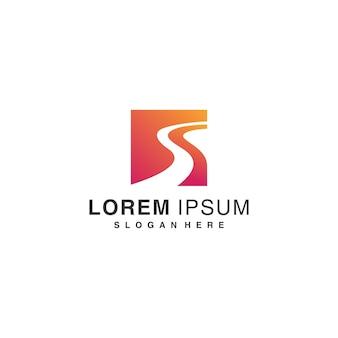 Doradztwo biznesowe inspiracja do projektowania logo, rozwiązanie, organiczne premium wektor