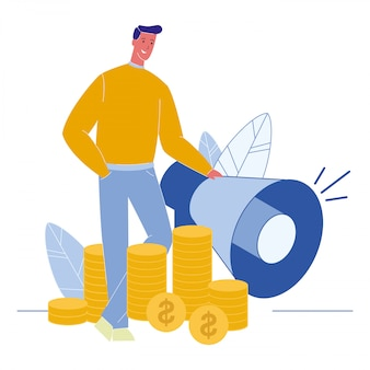 Doradztwo finansowe płaskie wektor ilustracja