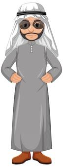 Dorosły mężczyzna arab ubrany w strój arabski