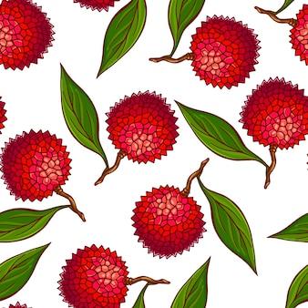 Dość kolorowy wzór wykonany z ręcznie rysowane lichi.