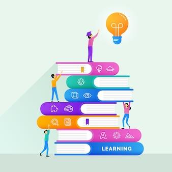 Dosięgać edukacja cel z nauczyciel pomocy pomocy dedykaci plakatowego pojęcia ilustracyjnym projektem
