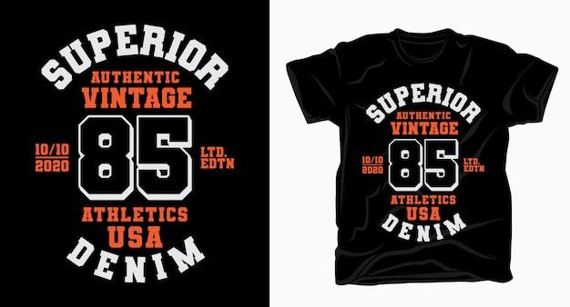 Doskonała typografia osiemdziesiąt pięć dla projektu koszulki