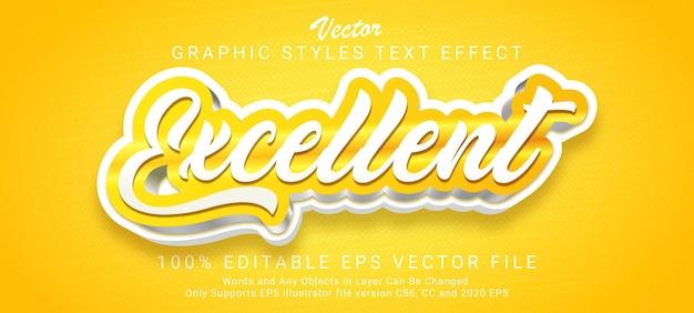Doskonały efekt błyszczącego złotego stylu tekstu