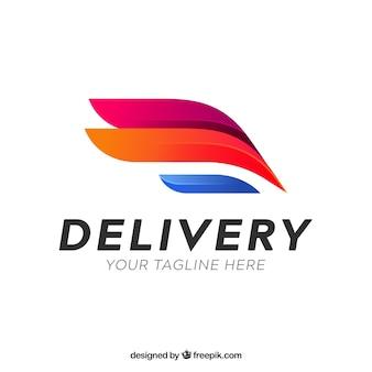 Dostarcz logo szablon z efektem gradientu