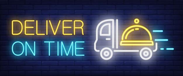 Dostarczanie na znak czasu w stylu neonowym