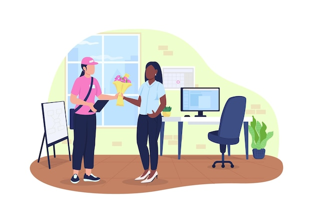 Dostawa bukietu do biura 2d. kurier z kwiatami i mieszkanie pracownicze