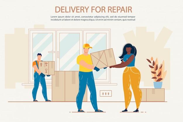Dostawa towarów do naprawy biura domowego mieszkania