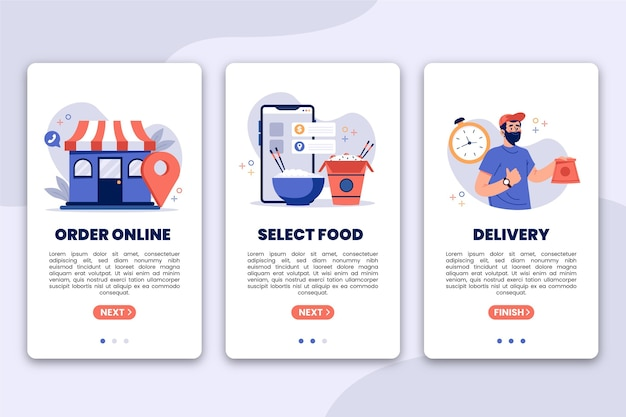 Dostawa żywności - ekrany pokładowe