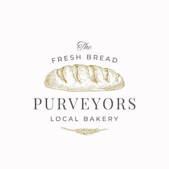 Dostawcy świeżego chleba streszczenie znak symbol lub szablon logo