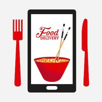 Dostawy żywności projekt, ilustracji wektorowych eps10 grafiki