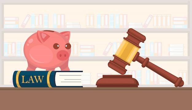 Dostępne usługi firma prawnicza firma wektor mieszkanie.