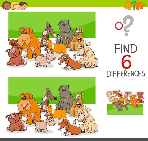 Dostrzec różnice między psami i szczeniętami