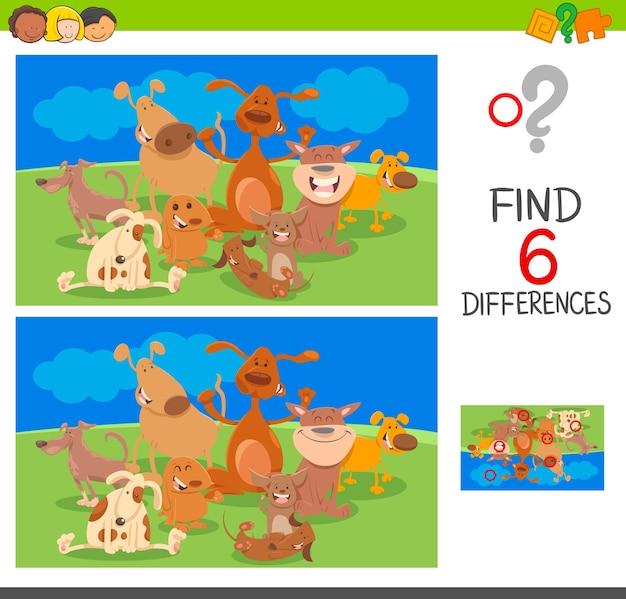 Dostrzegaj różnice między psimi postaciami zwierząt