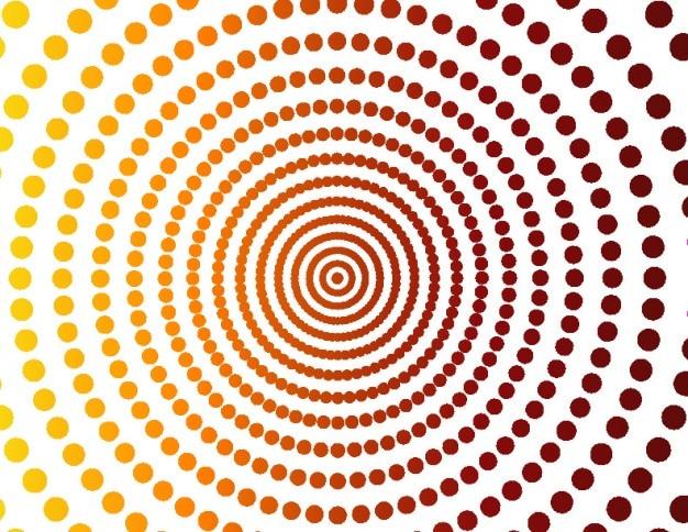 Dotted koncentryczne okręgi tła