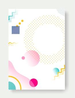 Dotyczy banerów okładek z płaskim geometrycznym wzorem. szablon wektor fajne kolorowe tła.