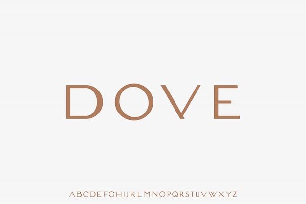 Dove, luksusowy, nowoczesny zestaw alfabetyczny