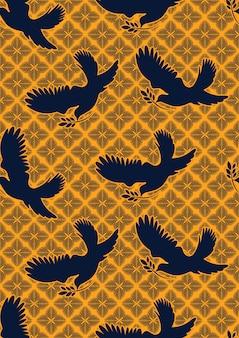 Dove of peace textile
